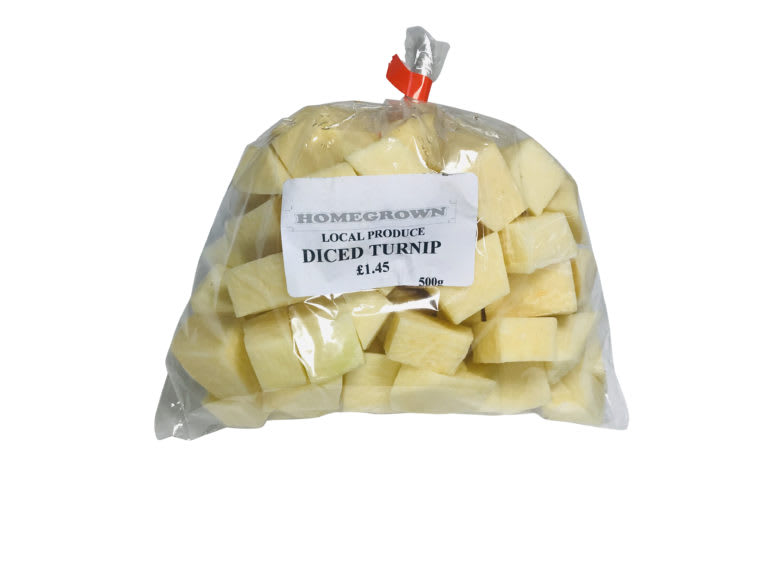 Diced Turnip